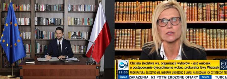 Screenshoty polityków na tle fikcyjnych biblioteczek w celu podniesienia prestiżu.