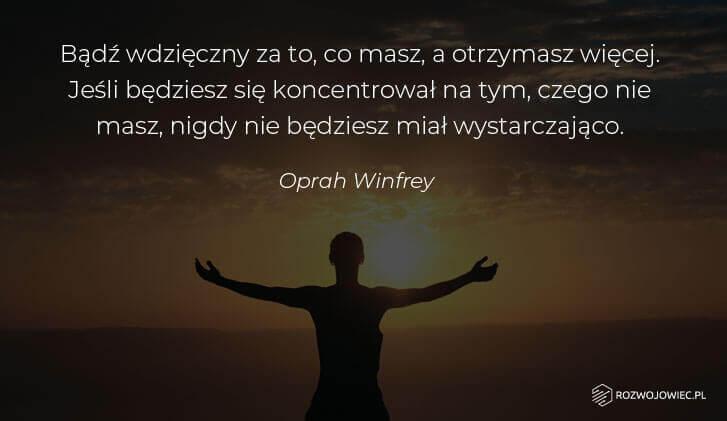 Wdzięczność cytat Oprah WInfrey