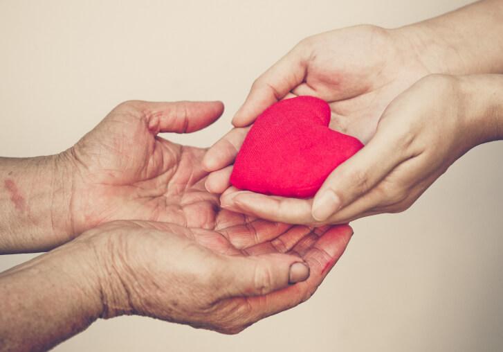Zdjęcie wdzięczność serce podarunek